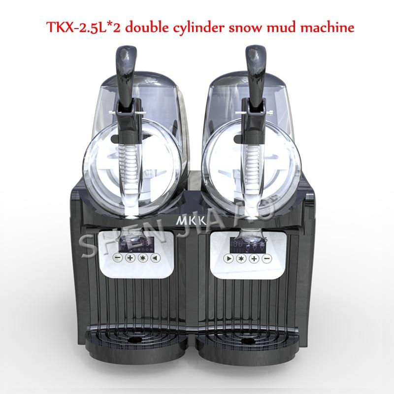 TKX-2.5L*2 double cylinder snow mud machine/snow melting machine juice container snow machine / beverage drink machineTKX-2.5L*2 double cylinder snow mud machine/snow melting machine juice container snow machine / beverage drink machine