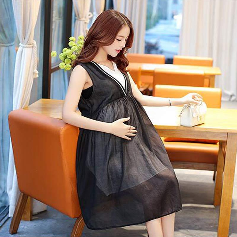 ФОТО Black Maternity Dress Maternity Photography Props Summer Cotton Sleeveless Dress Black Long Maternity Dress For Photo Shoot