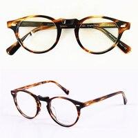 High Quality Vintage Optical Eyewear Frame OV5186 Greogy Peck Oculos DE Grau Round Optical Myopia Eyeglasse