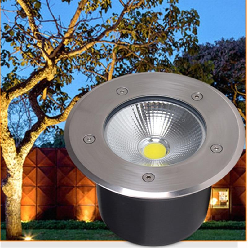 Rgb LED COB Underground Path Light Low Voltage Landscape In-ground Lights Outdoor Decorative Spotlight for Yard Garden 12W DC12V