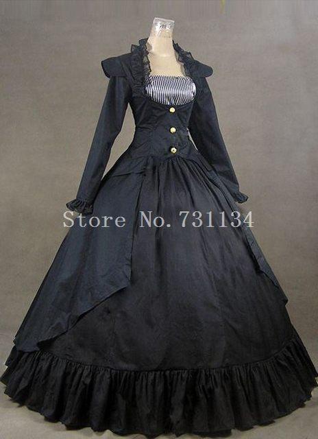 Online Shop Gothic Victorian Steampunk 3 Pieces Gown Jacket Dress ...
