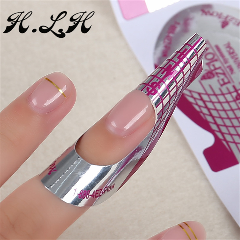 H.L.H Nail Art lalic Tips Formas de Extensión 500 unids Púrpura - Arte de uñas