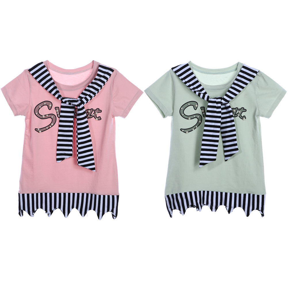 9-12 years Kids Short Sleeve Soft T-shirt Girls Letter Print Tops Clothes Tshirt Cute Fashion Short Sleeve Girls