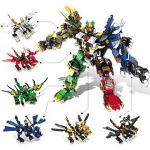 1065pcs Holy Beast armed Blocks Deformation Building Model Compatible City Army Education Toys for Children