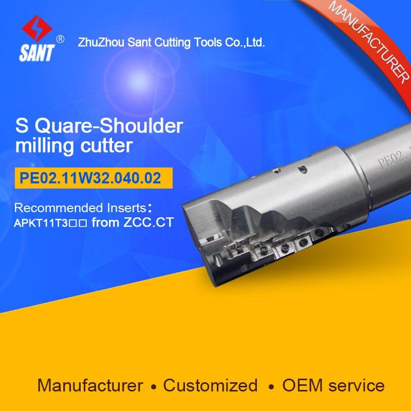 EMP04-040-XP32-AP11-02 Indexable Milling cutter SANTPE02.11W32.040.02 with APKT11T3 carbide insert