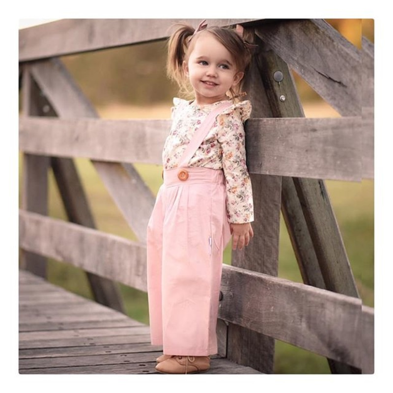2PCS Toddler Kids Baby Girl Winter Clothes Floral Tops+Pants Overall Outfits sweet girl clothes set 4