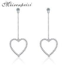 Sweet Heart Vintage Pendant Metal Drop Earrings Dangle Earring for Women Statement Jewelry Fancy Ornament