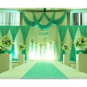 Image 5 - 1 סט רקע שלב וילון פנינה קרח משי בד וילונות DIY כיסוי רעלה לחתונה מסיבת מכירה לוהטת