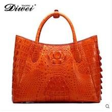 2018 diwei new hot free shipping real crocodile skin women handbag large capacity women bag quality