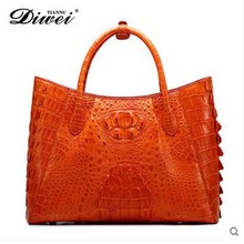 diwei 2017 new hot free shipping real crocodile skin women handbag large capacity women bag quality goods crocodile bag
