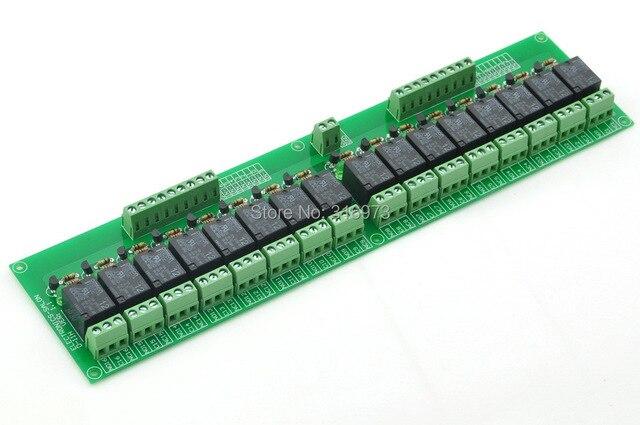 16 SPDT Силовых Реле Модуля, OMRON Реле, 12 В Катушки, 10А 277VAC/30VDC.