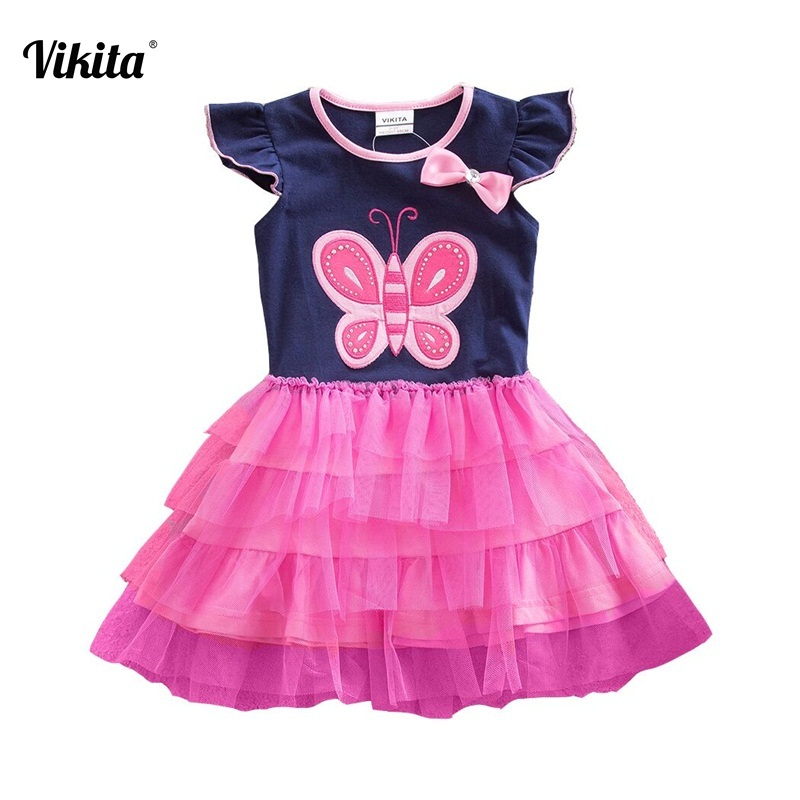 4b2d3d23847d6 3-8Y Neat Retail Girl Dresses Gift for Girls Tutu Princess Dresses  Butterfly Children Girls Summer Dress Clothing SH4555NAVYLONG