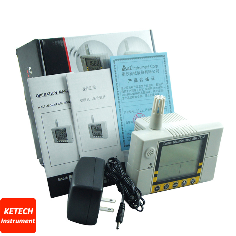 Indoor Air Quality Tester CO2 Temperature Humidity Monitor AZ7722