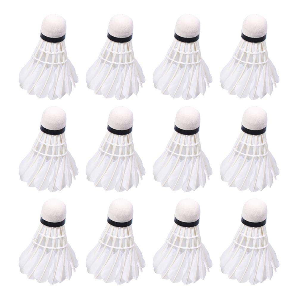 12pcs 100% Test Badminton Rotation Practice Badminton Beginner Training Ball Badminton For Entertainment Support Wholesale
