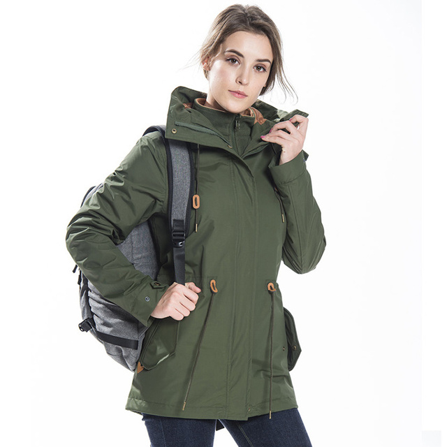 ZYNNEVA Autumn Winter Coat Women 3 in 1 Mountain Camping Hiking Suit Ski Windproof Jackets Thermal Waterproof Clothing GK1209 3