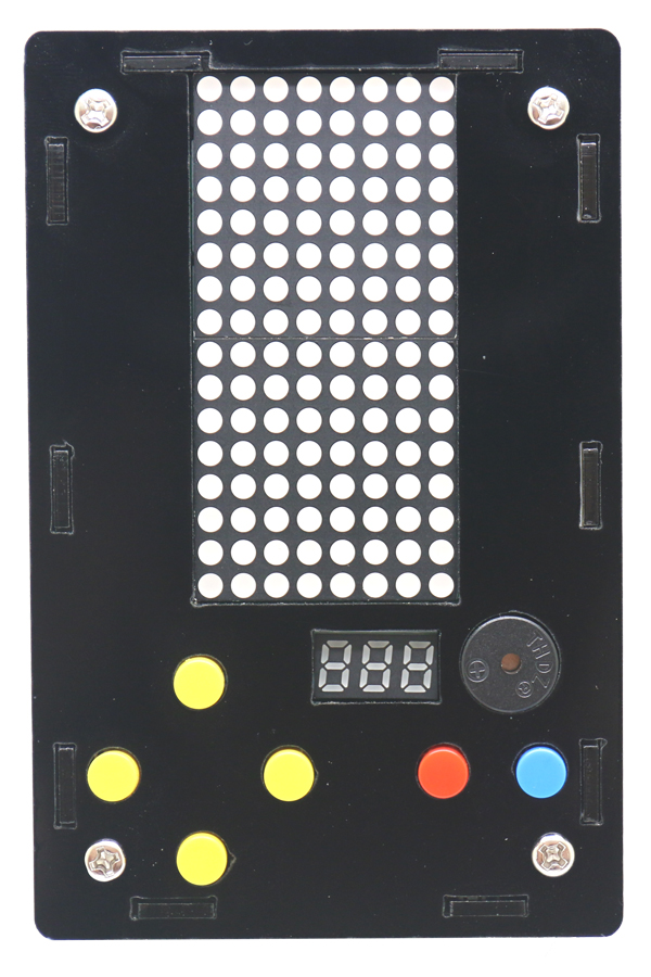 Купить с кэшбэком Electronic DIY Kit 8x16 Dot matrix game machine with Acrylic Diy Kit Electronic