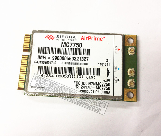 Sierra Wireless  AirPrime MC7750, DL 100M UP 50M LTE and EV-DO Wireless Module, Verizon US