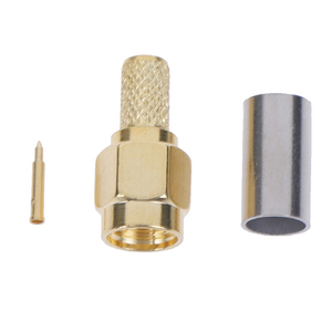 5 шт. SMA штекер RF коаксиальный разъем обжимной для RG58 RG142 RG400 LMR195 RG223|Соединители|   | АлиЭкспресс