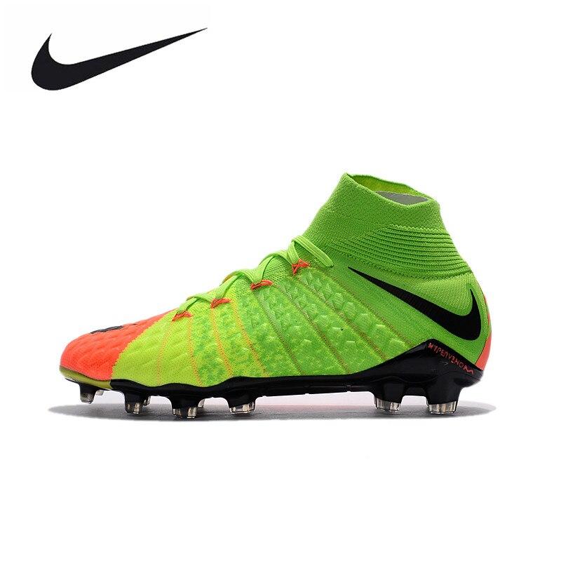 Nike Hypervenom Phantom III FG Outdoor Men Soccer Shoes Gray Football Boots Original AH7270-081 39-45