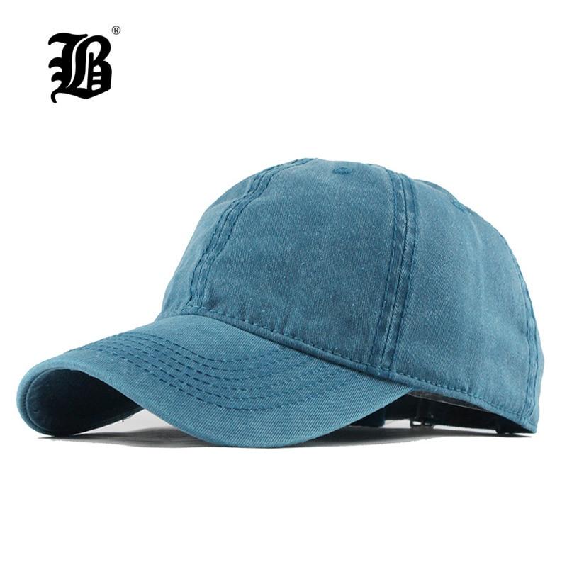 Baseball-Cap Vintage Sports Women FLB Solid for Casquette-Bone F149