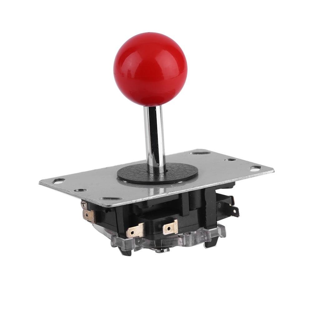 Persediaan! Arcade joystick DIY Joystick Red Ball 4/8 Way Joystick Fighting Stick Parts untuk Game Arcade Konstruksi sangat kasar