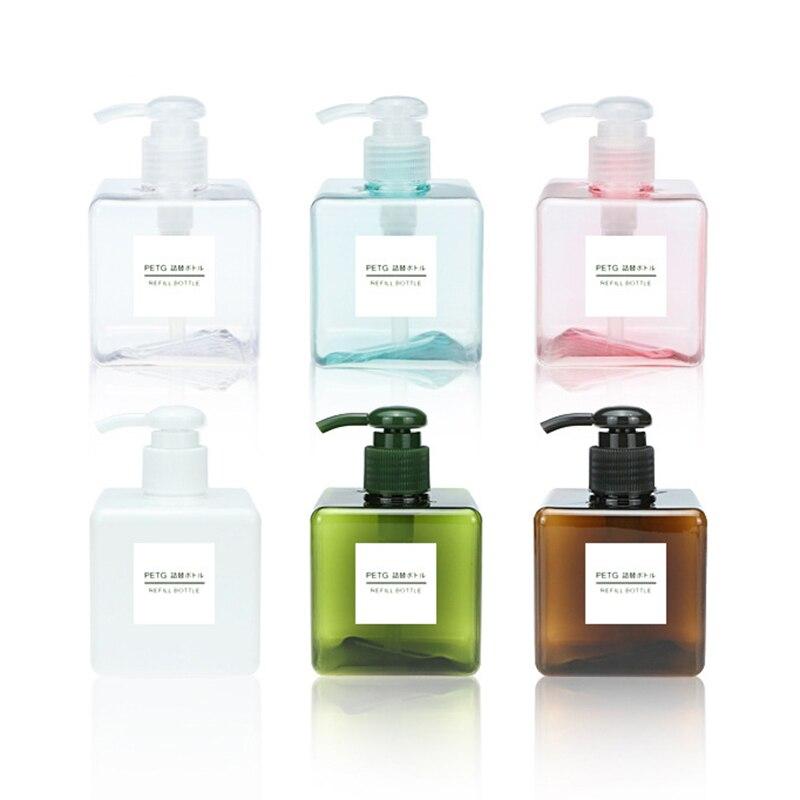 Square 250 Ml Lotion Bottle Split Bottle Soap Dispenser Cosmetics Bottles Bathroom Sanitizer Shampoo Travel Empty Bottle