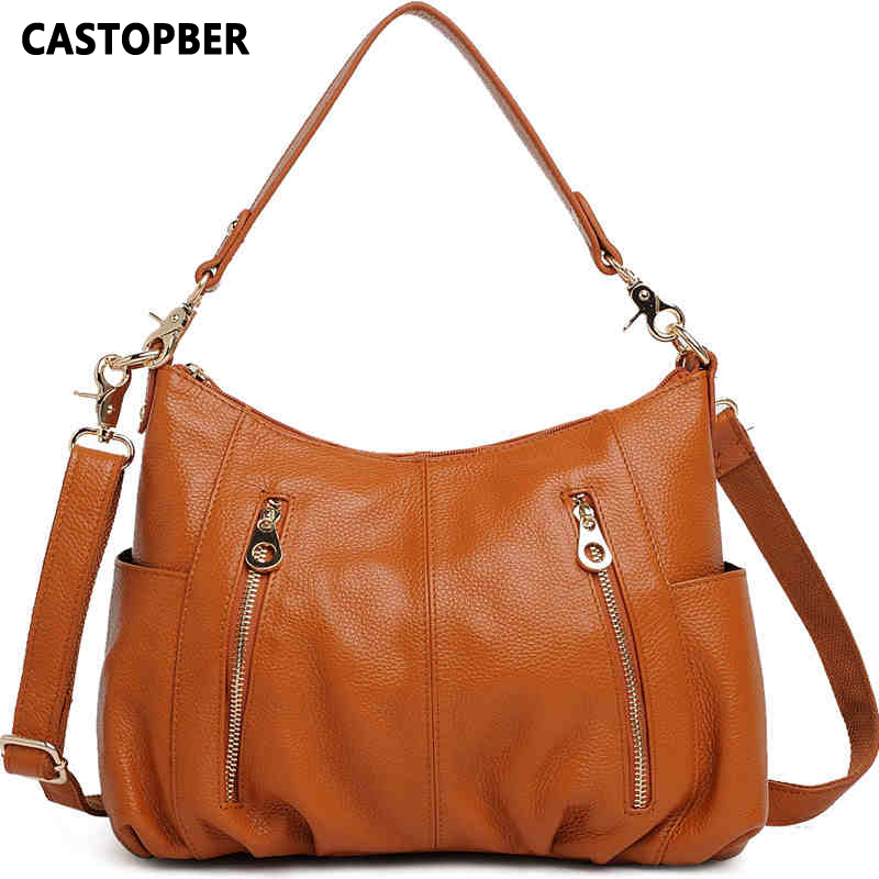 ФОТО Fashion Hot Sale Women's Large Bag Shoulder Genuine Leather Female Cowhide Leather Crossbody Messenger Bags High Quality Ladies