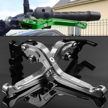 CNC Aluminum Motorbike Levers Motorcycle Brake Clutch Levers Foldable Extendable For Kawasaki ZX-9 ZX-9R ZX9 ZX9R ZX 9 9R цена и фото