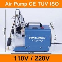 High Pressure Air Pump 110V 220V 300BAR 30MPA 4500PSI Electric Air Compressor for Pneumatic Airgun Scuba Rifle PCP Inflator CE