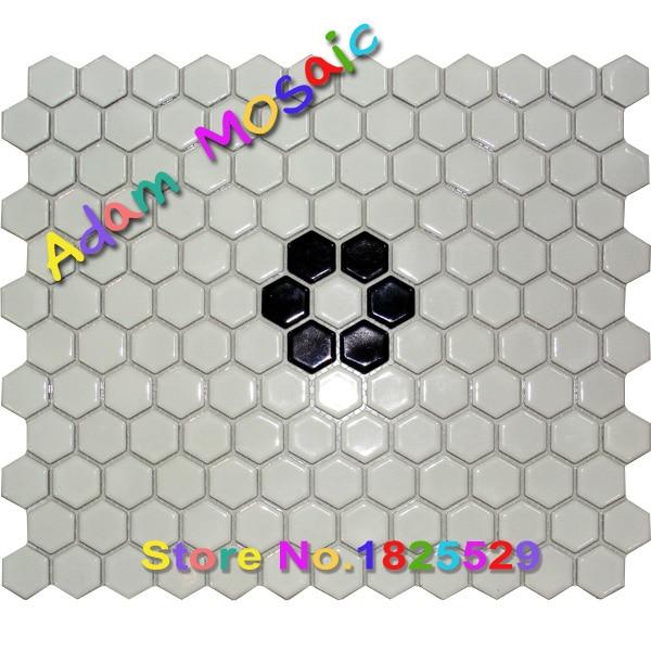 Online kaufen gro handel wei hexagon fliesen aus china wei hexagon fliesen gro h ndler - Hexagon fliesen ...