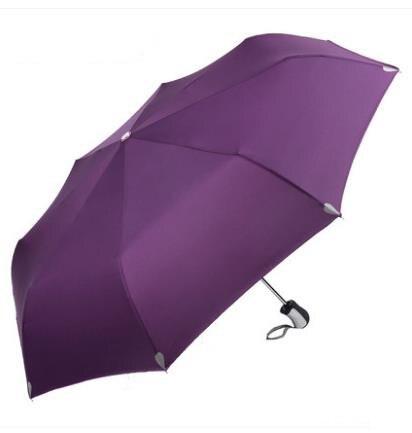 Большой зонт полуавтоматический водонепроницаемый Зонт raingear высокого качества - Цвет: Purple