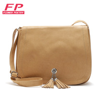 Flower Poetry 2017 Fashion Women Simple Messenger Bag High Quality PU Leather B Small Tassel Shoulder