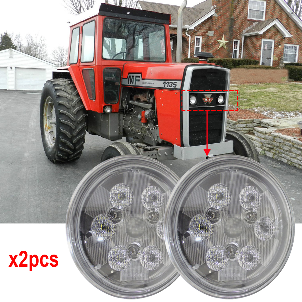 PAR36 led Tractor lights 4.5 Round par 36 LED Fender / Hood / Cab lights 12V 24V Sealed Beam Fits for John Deere Case JCB x2pcs