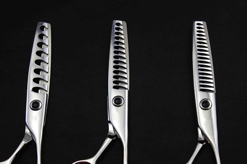 professionnel 5,5 pouces 440c 8 & 14 & 18 dents cisailles - Soin des cheveux et coiffage - Photo 6