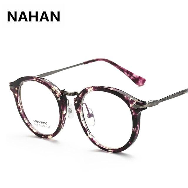 2018 Latest Retro Floral Plain Mirror Eyeglass Frame Women Round ...