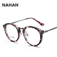 0645e6ffb9 2018 Latest Retro Floral Plain Mirror Eyeglass Frame Women Round TR90 Glasses  Frame High Quality Myopia Female Eyewear Frame