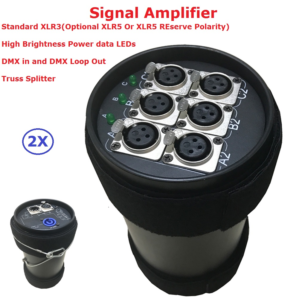 2Pcs Stage Lighting Controller DMX512 Splitter Light Signal Amplifier Splitter 6 Way DMX Distributor For Stage Shows Equipment jasen js sp06 6 way splitter for