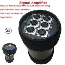 2Pcs Stage Lighting Controller DMX512 Splitter Light Signal Amplifier 6 Way DMX Distributor For Shows Equipment