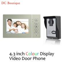 (1 set) Home intercom system Video intercom Doorphone one to one night version Door access control system Talk back 4.3Inch