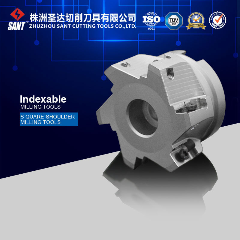 Indexable milling tool for square should milling cutter Kr 90 EMP02-063-A22-AP16-06, with APKT1604 insert high precision milling tools high quality milling cutter emp02 050 a22 ap11 06