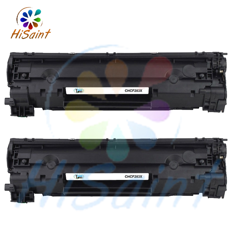 hisaint New 2PK CF283X 83X Black Compatible Toner for HP LaserJet Pro M125rnw M126a [Free shipping] the price of hisaint hot compatible toner cartridge replacement for hp cc530a 304a black 2 pack special counter free shipping page 1