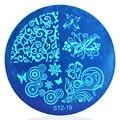 1 unids Lindo Plantilla Diferente Patrón de Flores Del Arte Del Clavo Herramienta de Manicura Plantilla Stamping 5.5 cm Diámetro # STZA19
