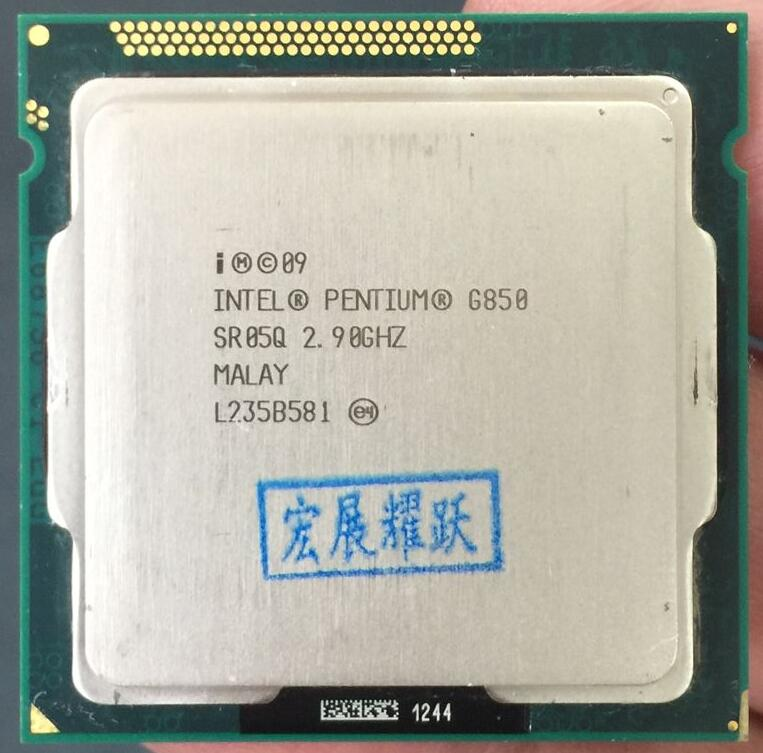 Intel  Pentium  Processor G850  (3M Cache, 2.90 GHz) CPU Dual-Core  LGA 1155 100% Working Properly PC Computer Desktop CPU