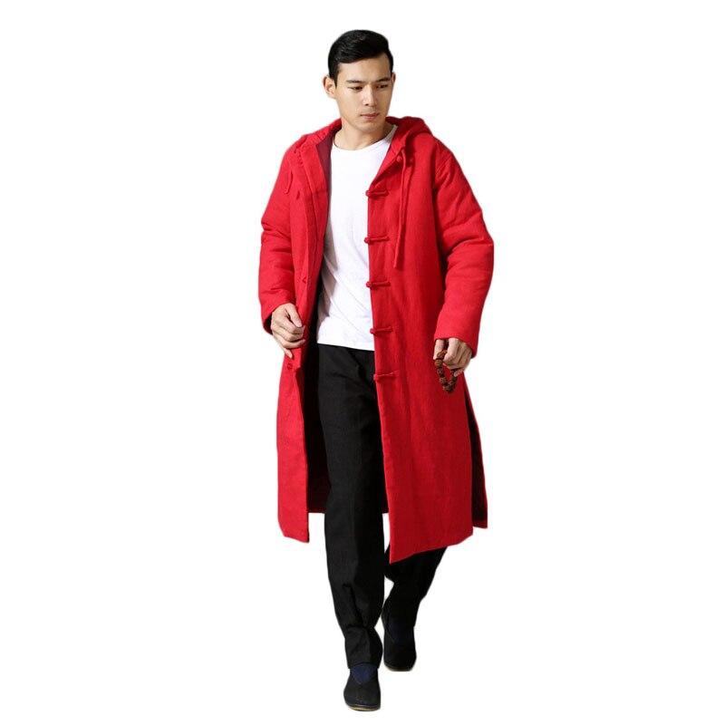 Крутой этнический тренд, модная ветровка, плащ, зимняя куртка, длинное пальто Тренч, мужское пальто, большой размер, 6 цветов - 3