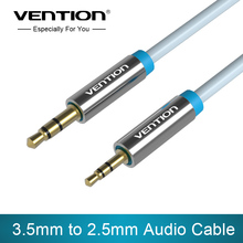 Vention Aux Cable Stereo Jack 3.5mm to 2.5mm male to male Audio Cable Gold Plated 1m 1.5m Blue Audio Cable for Phone Headphone