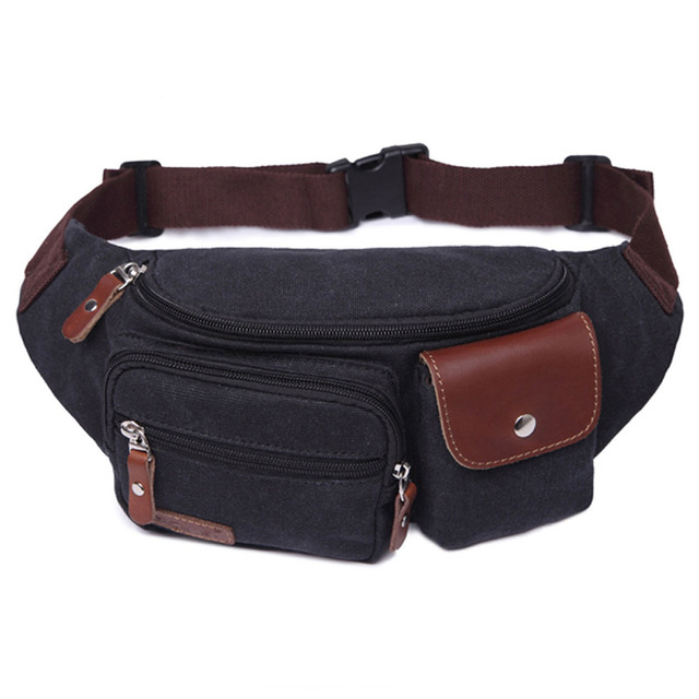 Estilo Popular Do Vintage Sacos de Homens Multifuncionais Pacote de Cintura Lona Ocasional Bolsa de Viagem Saco de Ombro Da Lona de Alta Qualidade