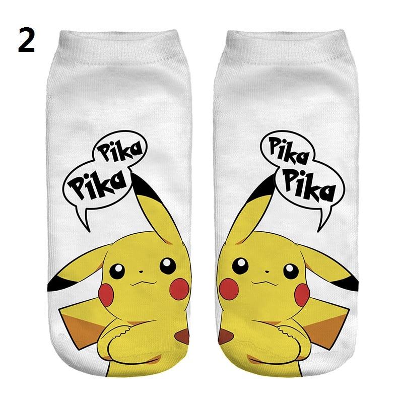 New Women Men Socks Pokemon Go Pikachu Cartoon Cute Funny Sock Good Quality Anime Lovely Socks