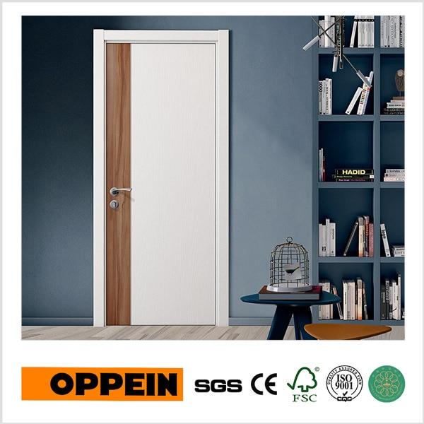 Oppein Simple Design White Melamine Wooden Interior Door Ydg002d