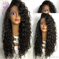 Side part curly synthetic lace front wig glueless lace front wigs cheap black heat resistant synthetic wigs for black women