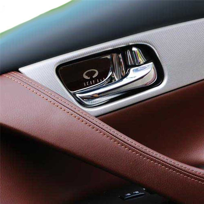 Interior Accessories For Infiniti QX50 QX70 FX35 QX80 EX Door Handle Wrist Bowl Cup Protecte Decorative Cover Sticker Trim Frame